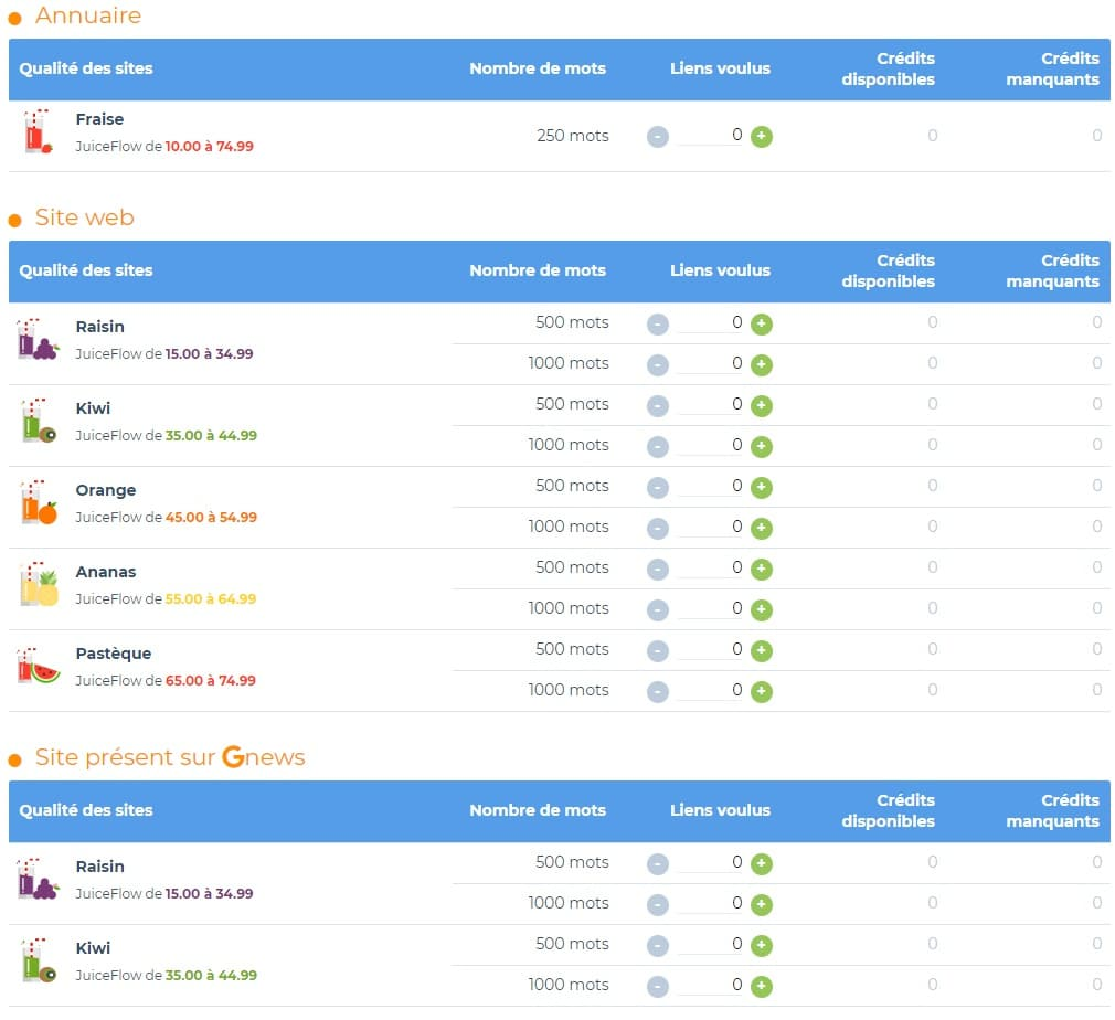 Acheter des backlinks sur SemJuice